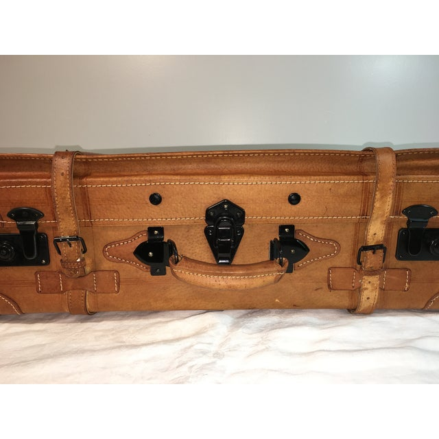 Vintage Leather Suitcase - Image 3 of 8