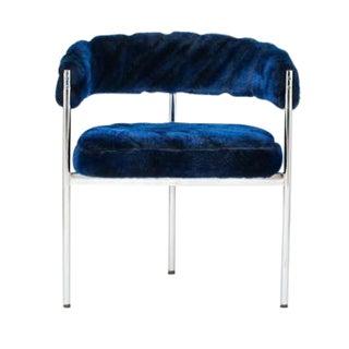 Blue Three-Leg Curved Chair