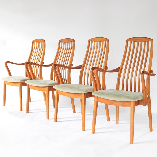 1960s Mid Century Modern Schou Andersen Teak Dining Chairs - Set of 2 For Sale - Image 9 of 9