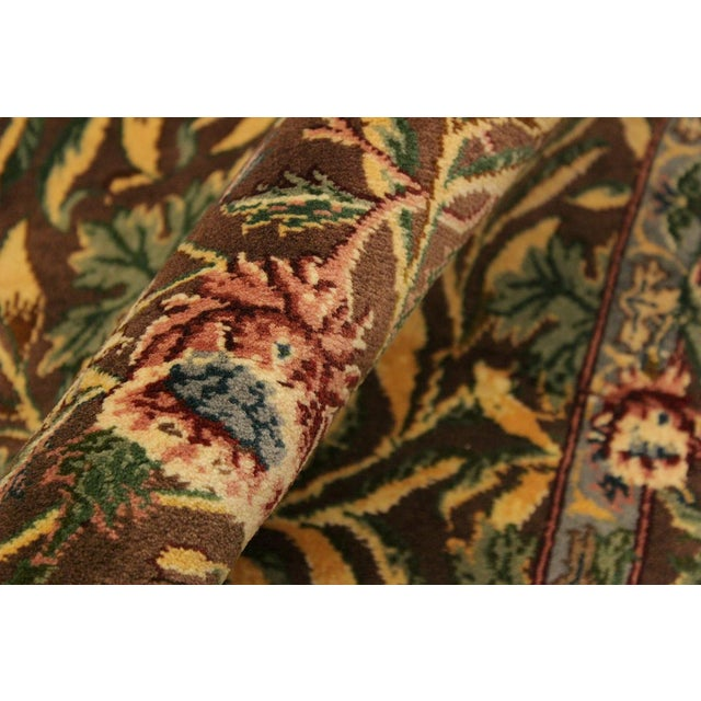 Imran Pak-Persian Mellisa Brown/Green Wool Rug - 4'0 X 6'4 For Sale - Image 4 of 8