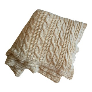 Moving Sale - Mohair Cable Knit Throw