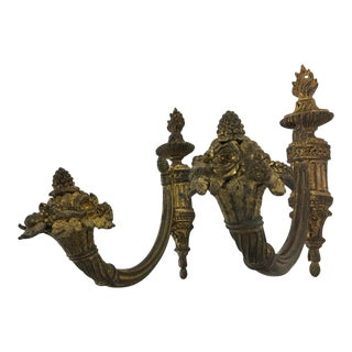 Napoleon III Bronze Dore Tie Backs or Hooks With Horn of Plenty Motif - a Pair For Sale