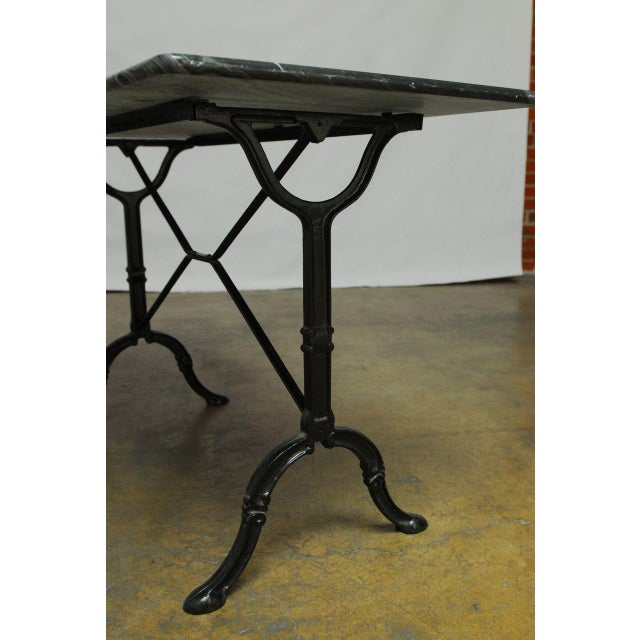 French Marble Bistro Table - Image 6 of 7
