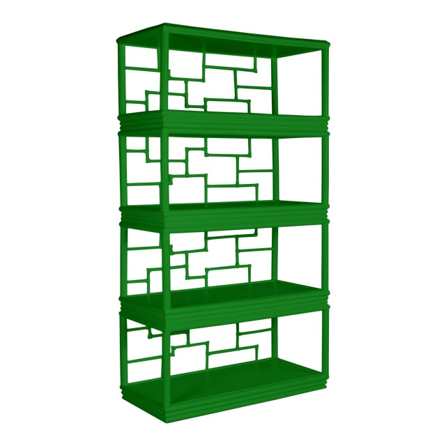 Tibet Etagere - Bright Green For Sale