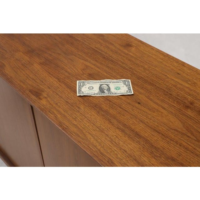 Wood Swivel Centre Bar Walnut Mid-Century Modern Credenza Sideboard Sculptural Legs For Sale - Image 7 of 13