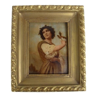 19th Century Antique European School Portrait of a Woman Painting For Sale