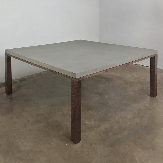 Christian Liaigre Designer Table & 4 Matching Benches by Christian Liaigre For Sale - Image 4 of 13