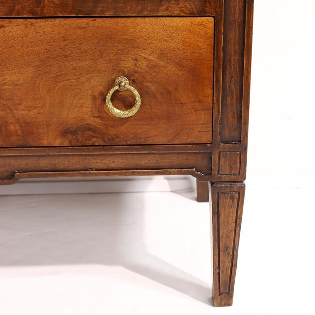 19th Century Louis XVI Style Chest With Marble Top For Sale - Image 10 of 13