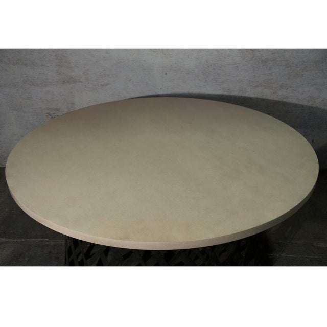 2010s Basket Weave Dining Table For Sale - Image 5 of 6