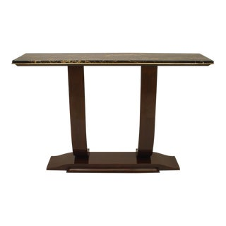 1930s French Art Deco Rosewood Console Table For Sale