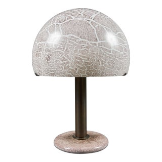 A Model 832 Glass and Bronzed Metal Table Lamp by Venini For Sale