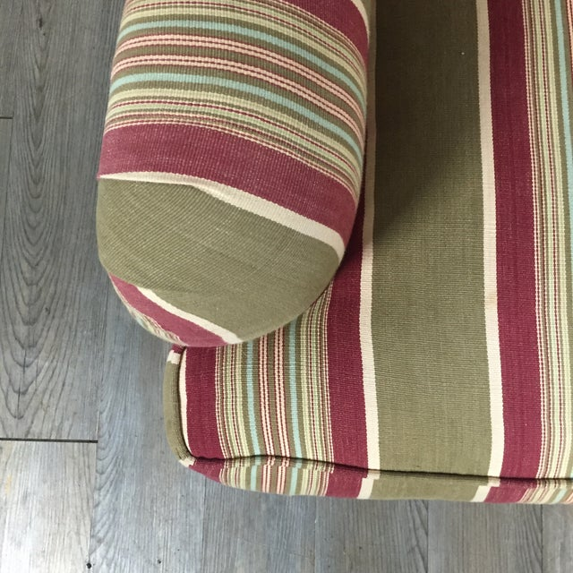 Pottery Barn Striped Armchair - Image 6 of 11