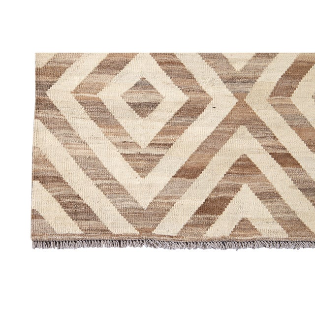 2010s 21st Century Modern Kilim Wool Rug For Sale - Image 5 of 12
