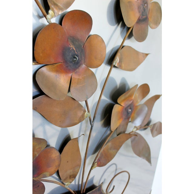 1970s 1970s Mid-Century Modern Aluminum Copper Wall Art Sculpture by Alex Kovacs For Sale - Image 5 of 8