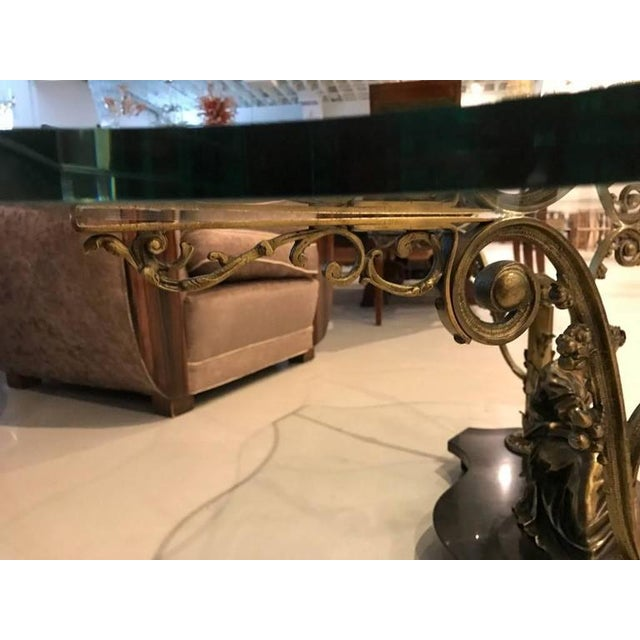 French Art Nouveau or Art Deco Coffee Table For Sale - Image 9 of 10
