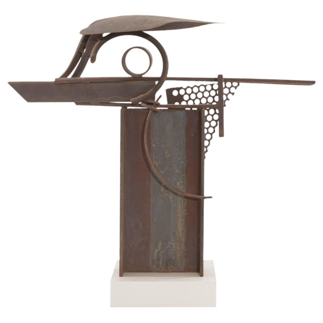 Patinated Steel and Iron Sculpture by Rick Lussier For Sale