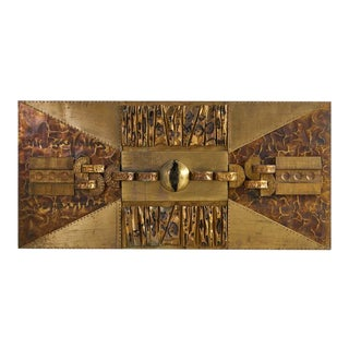 Monumental Brutalist Wall Hanging For Sale