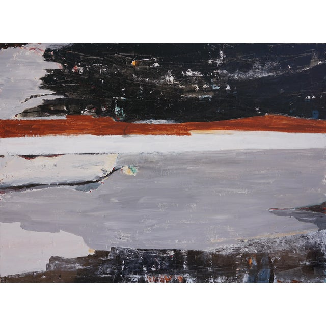"""Laurie MacMillan """"Tarry Tarry Night"""" Abstract Landscape Painting For Sale"""