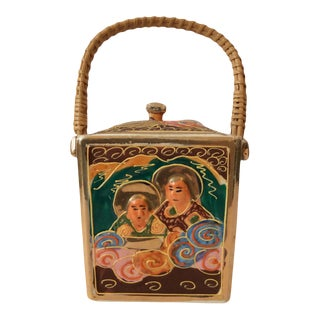 1940s Imari Biscuit Barrel For Sale