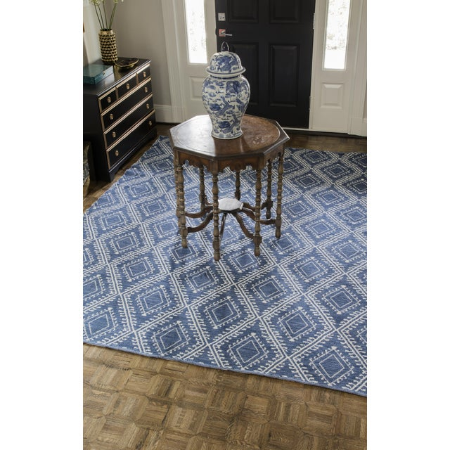 """Erin Gates by Momeni Easton Pleasant Navy Indoor/Outdoor Hand Woven Area Rug - 5' X 7'6"""" For Sale In Atlanta - Image 6 of 7"""