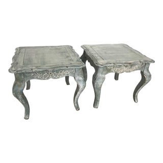 French Country Farmhouse Side Tables - a Pair For Sale