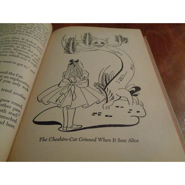 """1940s 1940's Early American """"Alice in Wonderland"""" by Lewis Carroll Book For Sale - Image 5 of 6"""