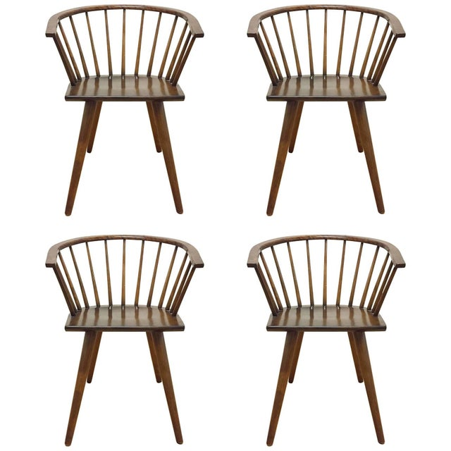 Mid 20th Century Set of Four Russel Wright Conant Ball Captains Dining or Side Chairs For Sale - Image 5 of 5