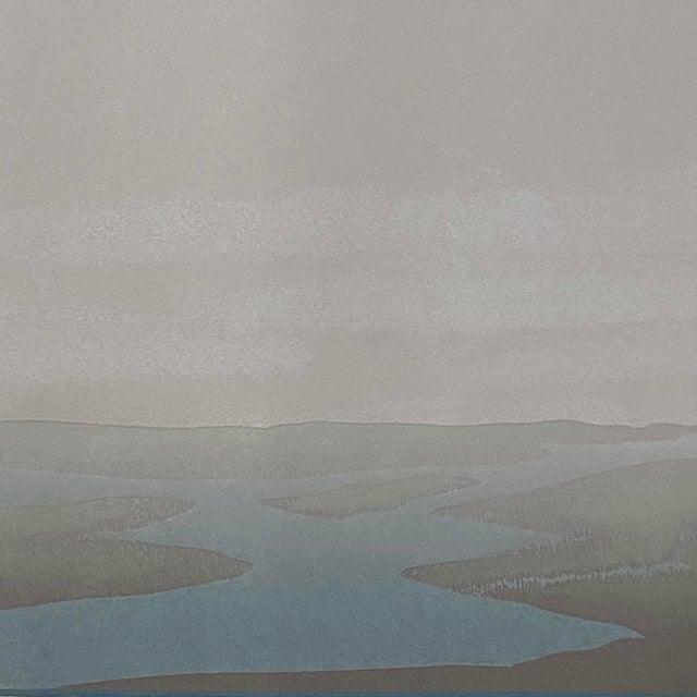 "1980s 1986 ""Wetlands"" Minimalist Linocut Print by Teri Malo For Sale - Image 5 of 6"