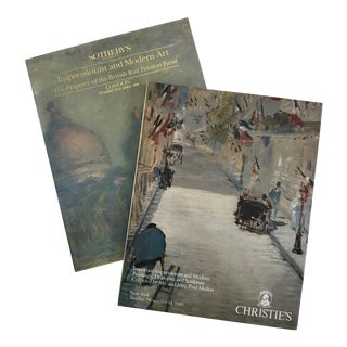 1989 Christie's & Sotheby's Impressionist and Modern Art Auction Books - a Pair For Sale