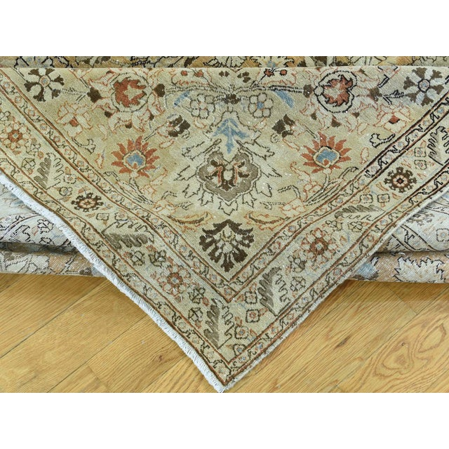 1920s Vintage Hand-Knotted Persian Tabriz Rug - 9′6″ × 13′1″ For Sale In New York - Image 6 of 12