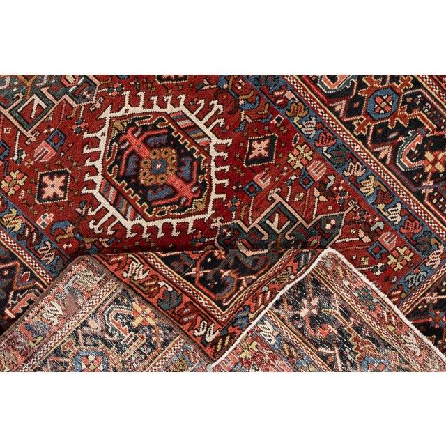 "1950s Apadana - Vintage Persian Heriz Rug, 4'9"" X 6'1"" For Sale - Image 5 of 6"