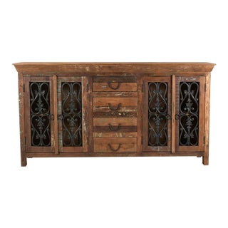 Four Drawer Mango Wood Sideboard/ Server for Dining Room