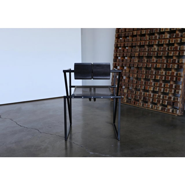 """Black 1982 """"Seconda 602"""" Armchairs by Architect Mario Botta for Alias - Set of 6 For Sale - Image 8 of 13"""