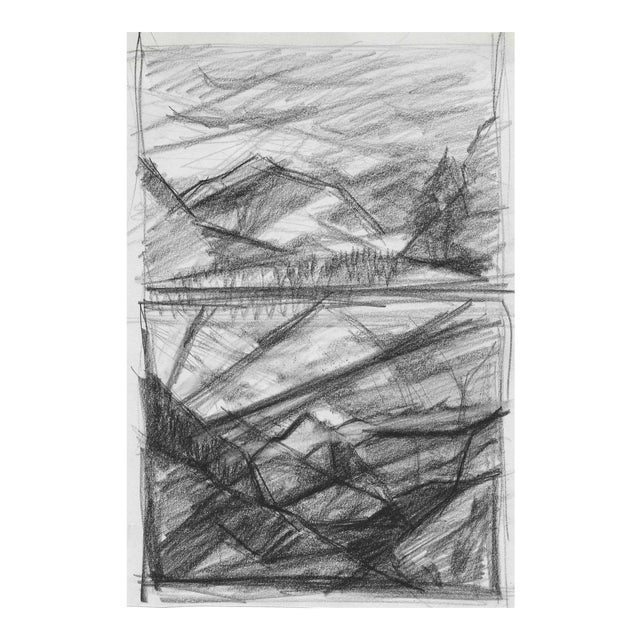 1950s Mountain Double Drawing For Sale