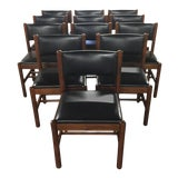 Image of Danish Walnut Dining Chairs - Set of 12 For Sale