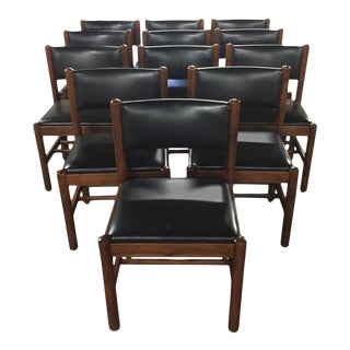 Danish Walnut Dining Chairs - Set of 12 For Sale