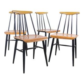 Ilmari Tapiovaara Fanett Dining Chairs - Set of 4 For Sale