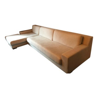 Restoration Hardware Modern Line Modena Track Arm Sectional For Sale