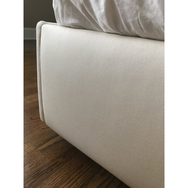 Contemporary Christopher Guy Headboard and Upholstered Bedframe in Silk Canvas - 2 Pieces For Sale In Nashville - Image 6 of 7