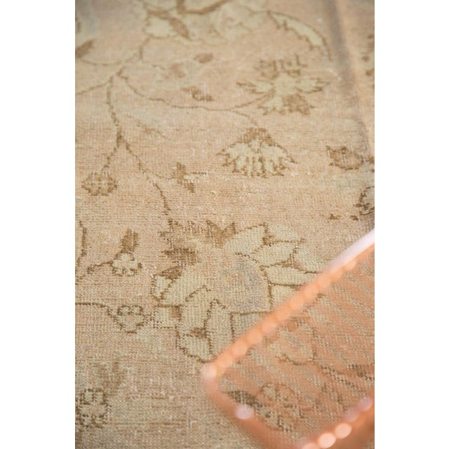 """White Vintage Distressed Oushak Carpet - 7'2"""" x 12'1"""" For Sale - Image 8 of 10"""