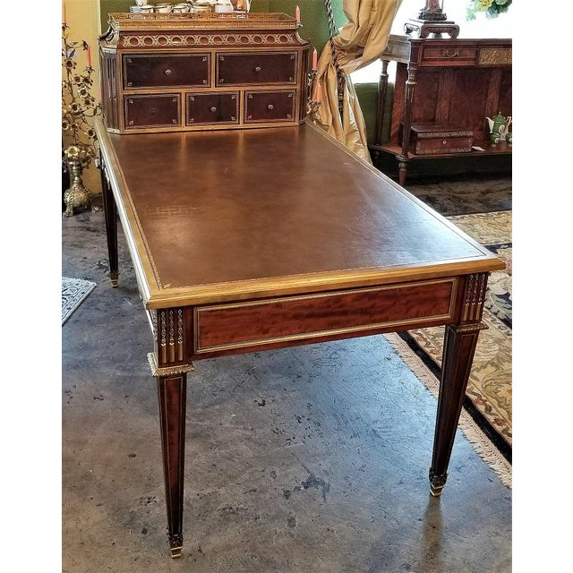 19th Century Louis XVI Style Desk by Paul Sormani For Sale - Image 11 of 13