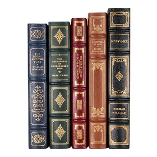 American Classic Novels in Fine Bindings, S/5 For Sale