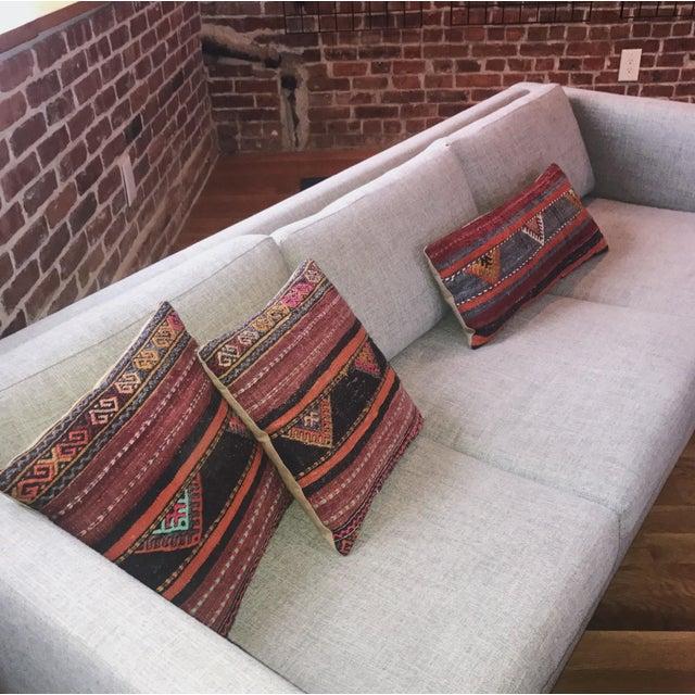 Vintage Turkish Kilim Pillows - Set of 3 For Sale - Image 4 of 9
