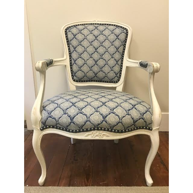 Vintage Reupholstered Armchair - Image 2 of 3