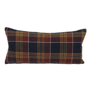 Japanese Shima Plaid Pillow For Sale