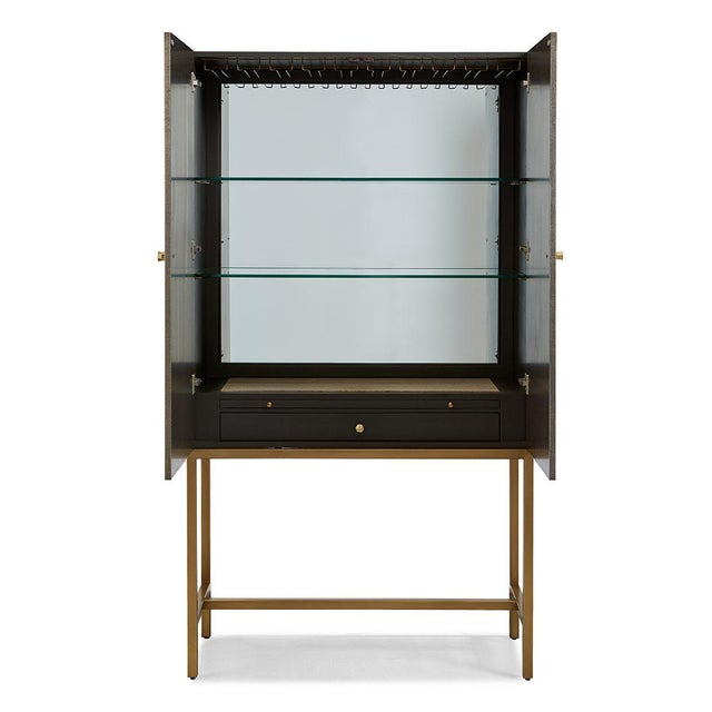 Modern Leeds Bar Cabinet from Kenneth Ludwig Chicago For Sale - Image 3 of 5