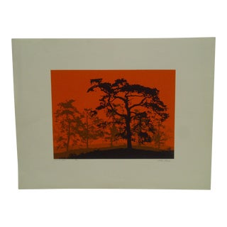"""William Struch Signed Numbered (80/100) """"Oriental Red"""" Print"""