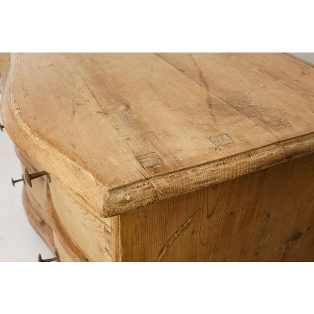 Italian Serpentine-Front Pine Commode For Sale - Image 10 of 13