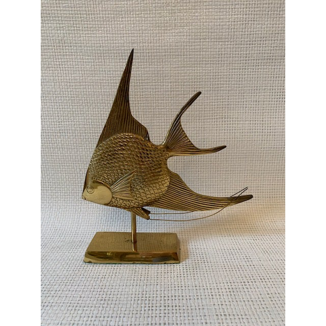Mid Century Modern Brass Sailfish Sculpture on Stand For Sale In New York - Image 6 of 6
