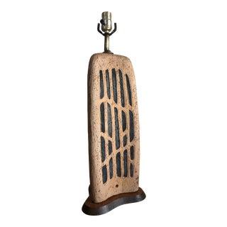 Vintage Mid Century Modern Brutalist Table Lamp. For Sale